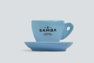 Samba Coffee Roasters Blue Cappuccino Cup